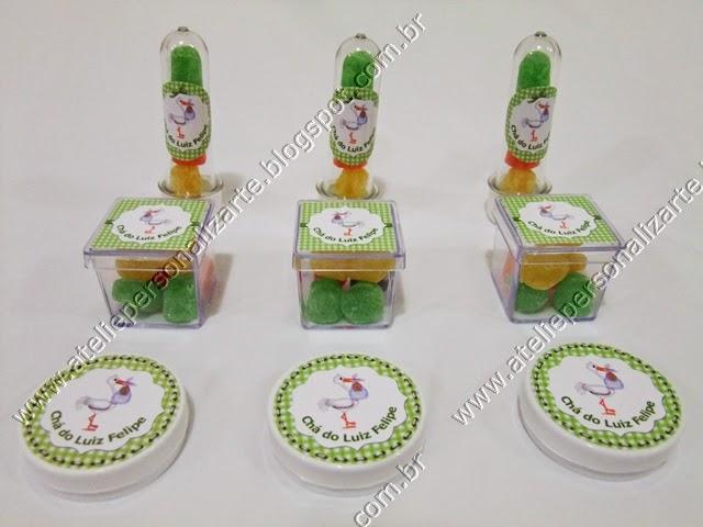 lembrancinhas personalizadas para cha de bebe cegonha