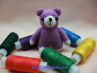 Мастер-класс по вязанию крючком: Сиреневый мишка амигуруми.