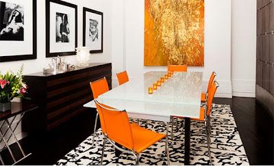 desain interior ruang makan minimalis elegan