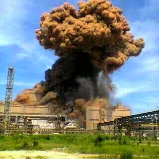 Explosion of steel plant at PT. KRAKATAU POSCO, Cilegon - Indonesia