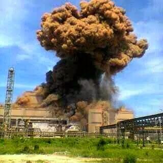 Explosion of steel plant at PT. KRAKATAU POSCO, Cilegon - Indonesia