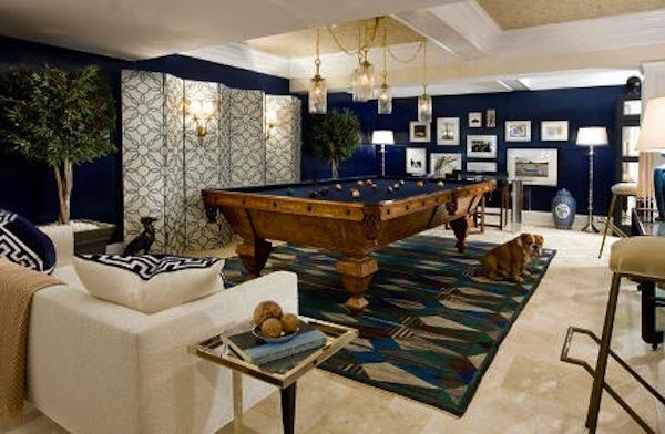 25 great designs of billiards room hdpixels for Pool room decor