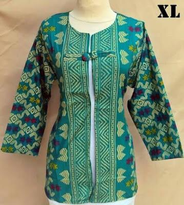 Gambar Blazer Batik Kancing Songket