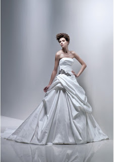 Wedding Dress Satin Strapless Straight, pre wedding
