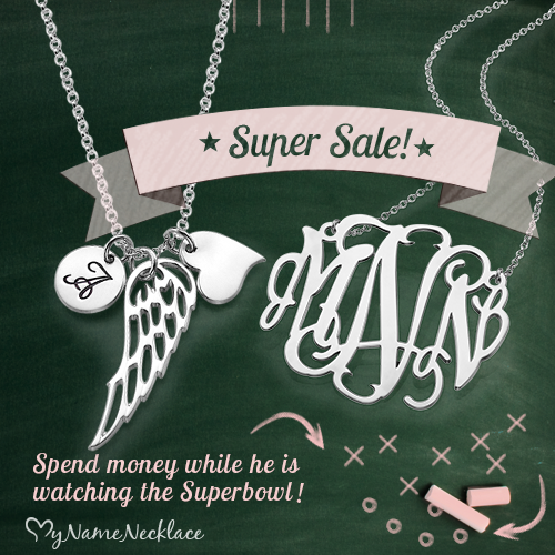 Super Savings on Super Sunday at MyNameNecklace