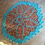 Tapete Hexagonal Folhas Azuis