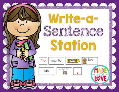 https://www.teacherspayteachers.com/Product/Write-a-Sentence-Station-1399209