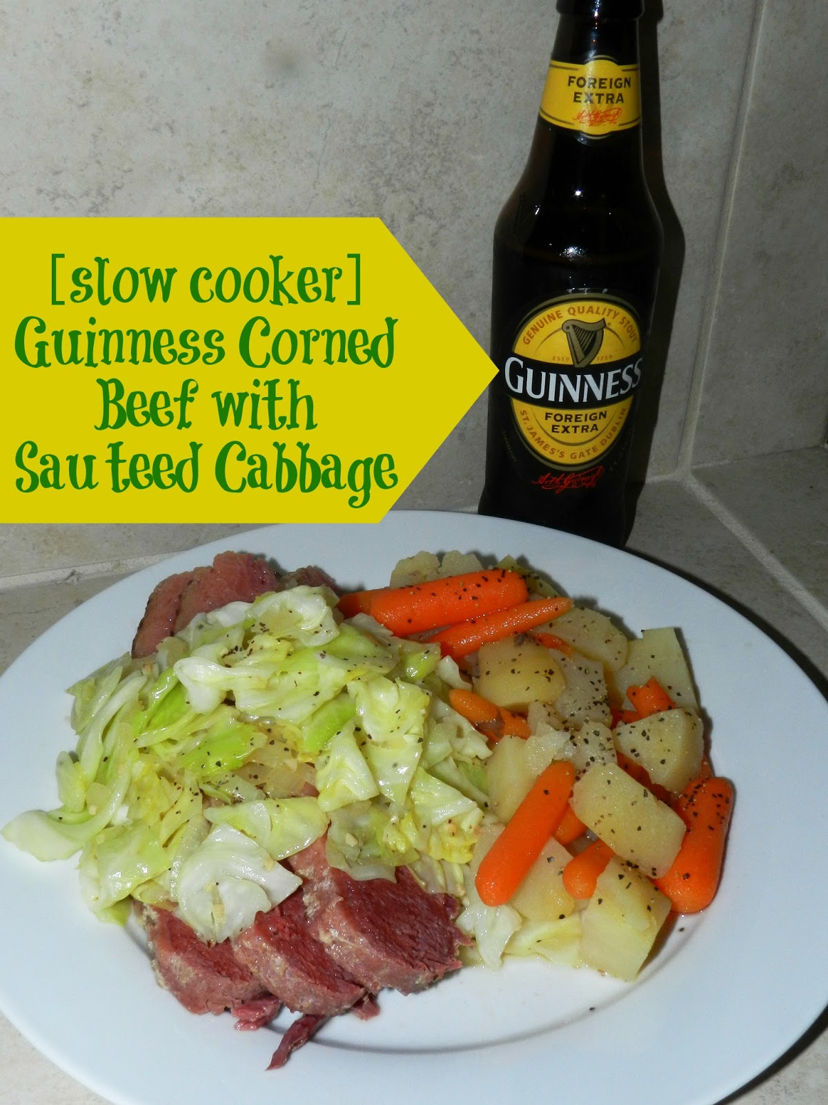 Guinness Corned Beef w/Sauteed Cabbage |