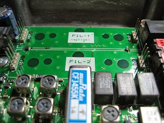 YAESU FT-897 - FT-857 sustitucion de los filtros cerámicos originales TOKO A55HJ