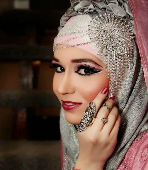 Amazing hijab wedding dresses