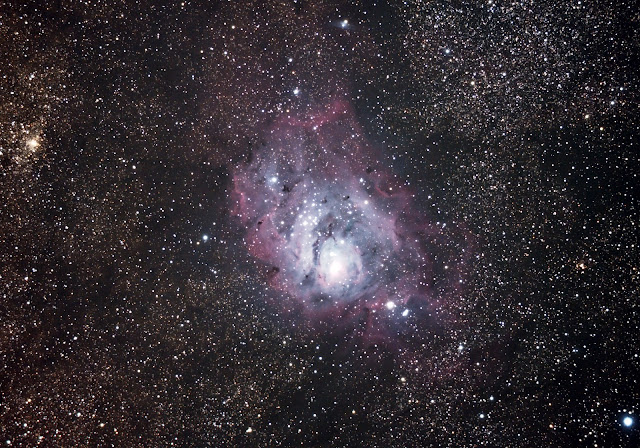 M8 - The Lagoon Nebula - Astrophotography with Telescope and Canon Rebel XSi