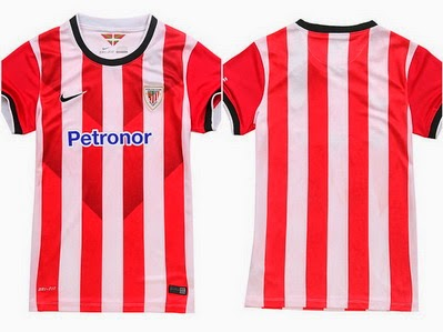 La segunda camiseta del athletic bilbao 2014-2015 está inspirada en la  Ikurriña b39ff13f3fa94