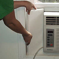 i have cold air coming in on both sides of my window air conditioner do you have a product for this problem - Air Conditioner Covers