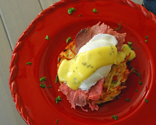Prime Rib Eggs Benedict, leftover prime rib, Big Green Egg prime rib