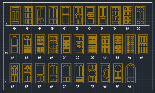 2d Door Sample Free Download AutoCAD File - Free AutoCAD Learning
