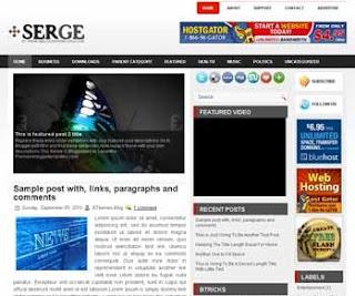 Serge Blogger Template