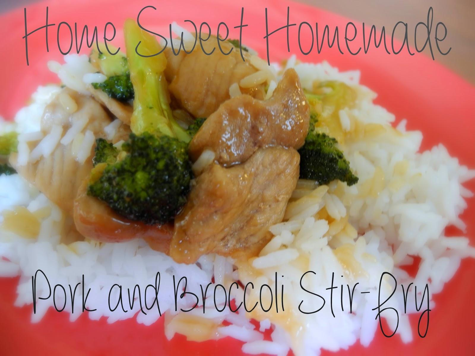 Pork with Broccoli Stir-Fry
