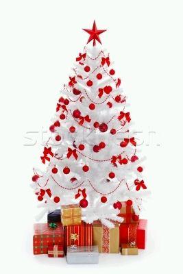 Arboles de navidad color rojo parte 1 - Arboles navidad blancos ...
