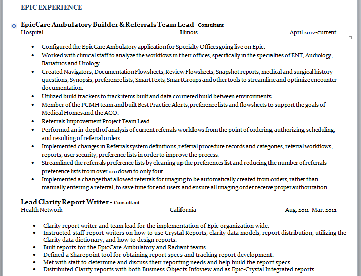 best resume ever