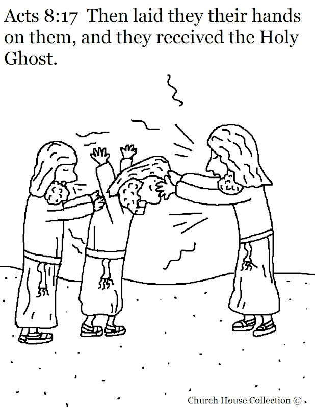 Acts 8:17 Received The Holy Ghost Coloring Page title=