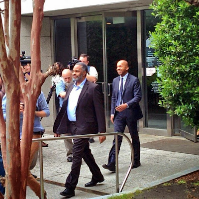 Anthony Hinton, just after his release from jail on Friday, March 3, 2015
