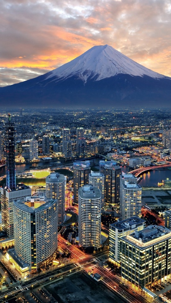 Yokohama City And Mt.Fuji