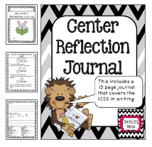 http://www.teacherspayteachers.com/Product/Center-Reflection-Journal-CCSS-aligned-699348