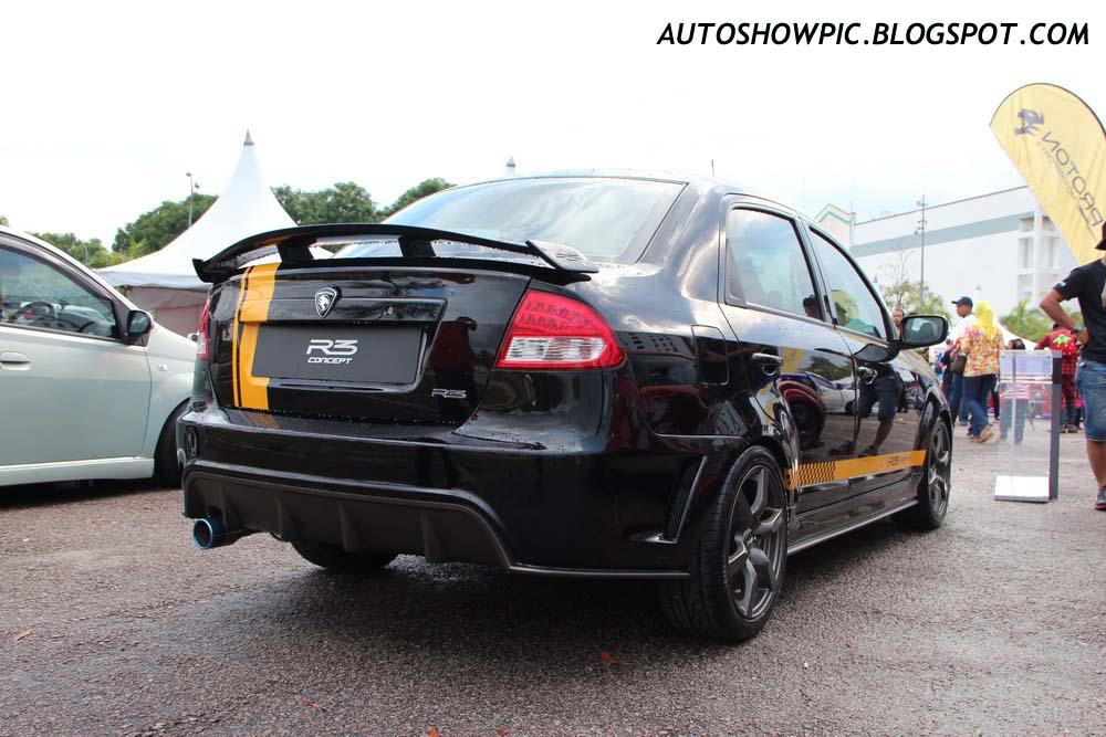 Proton Saga R3 Concept rear view