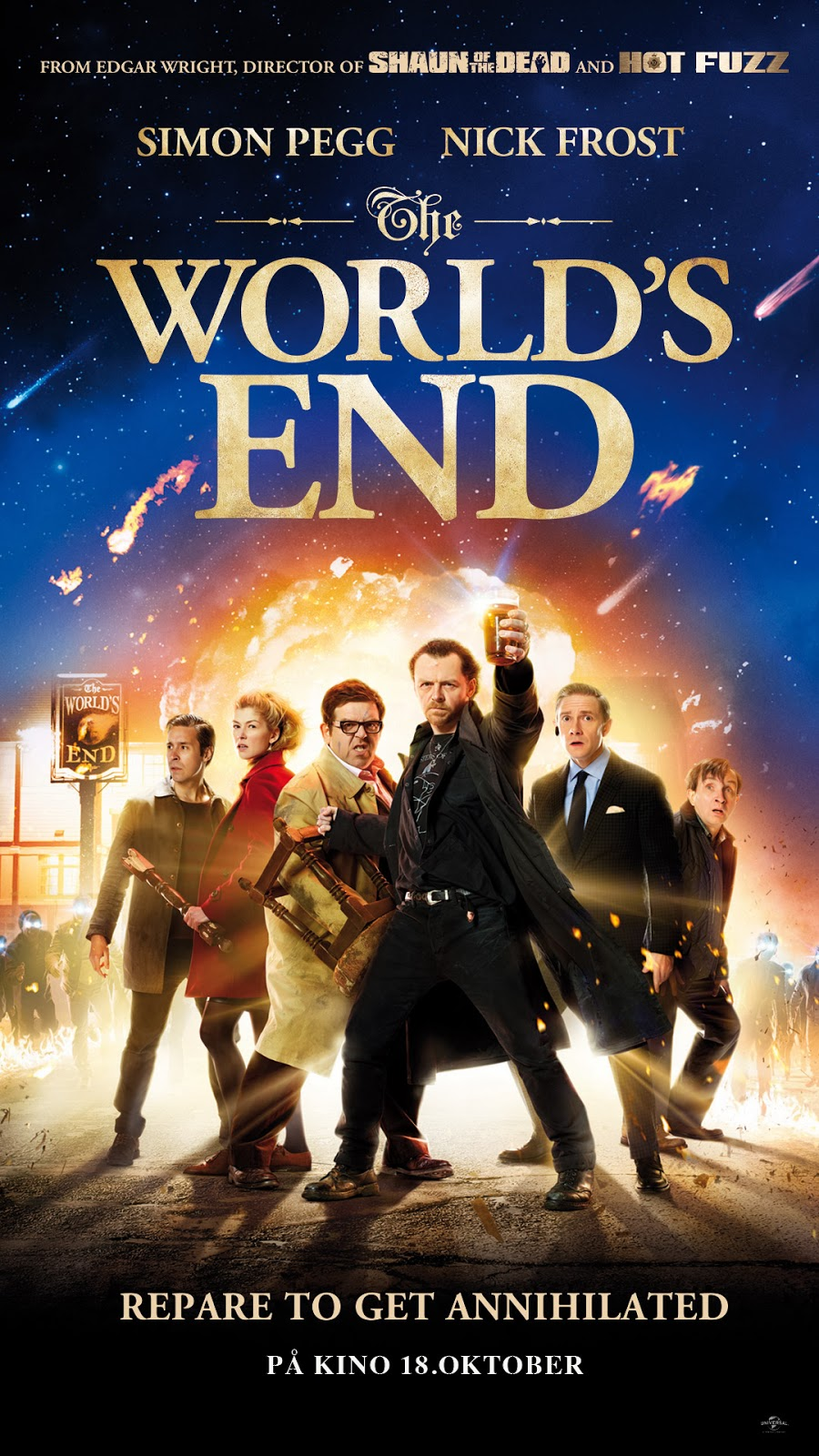 Norsk poster for The World's End