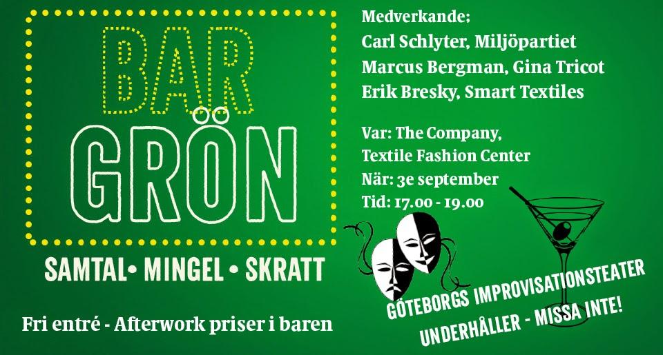 Bar Grön - Träffa Carl Schlyter, Marcus Bergman och Erik Bresky