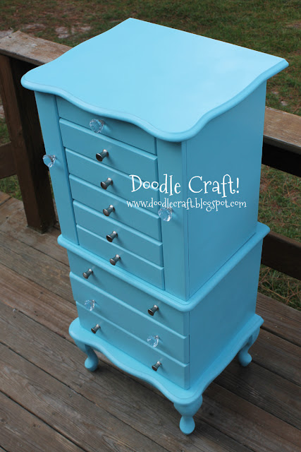 Doodlecraft vintage jewelry armoire redo diy for Furniture yard sale