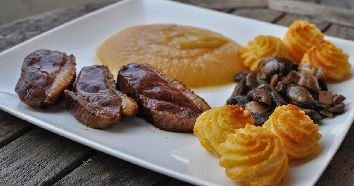 G raldine en cuisine magret de canard champignons au - Une mousseline en cuisine ...