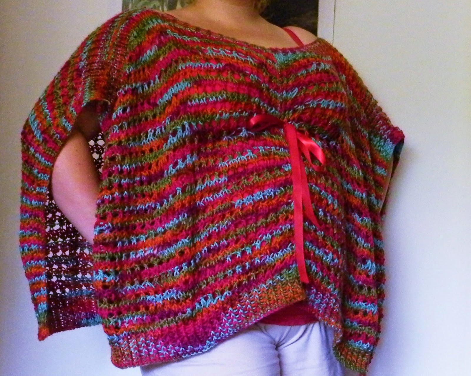 The Loom Muse How To Loom Knit A Kaftan Or Poncho