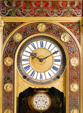 intricate designs on 18th century antique sympathique breguet clock