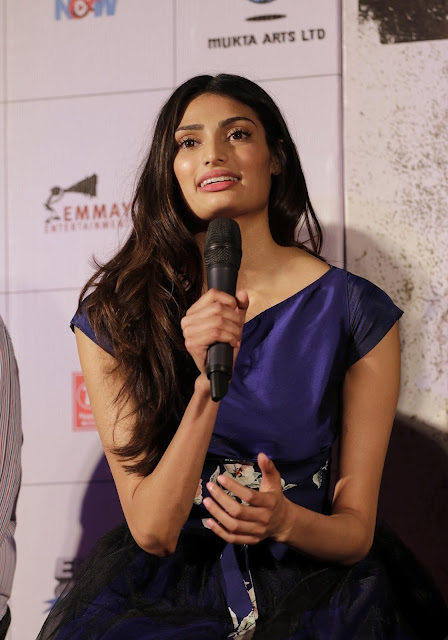 "Athiya Shetty Looks Smoking Hot In a Blue Dress At Film ""Hero"" Trailer Launch In Mumbai"