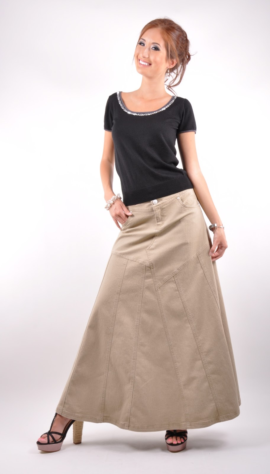 Long Skirts u0026 Dresses Long Denim Skirts