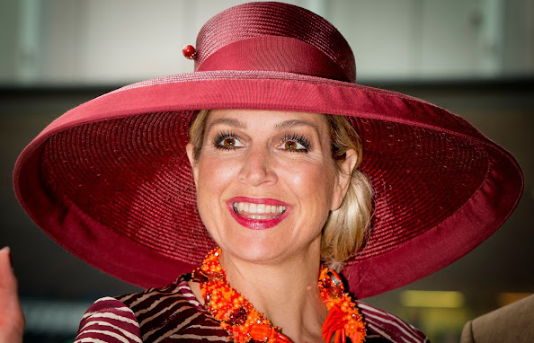 Queen Maxima of The Netherlands opens the Design Derby Netherlands - Belgium
