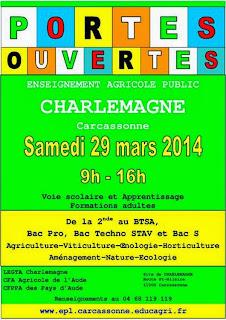 EPL, charlemagne, carcassonne, métier agriculture, orientation, lycée