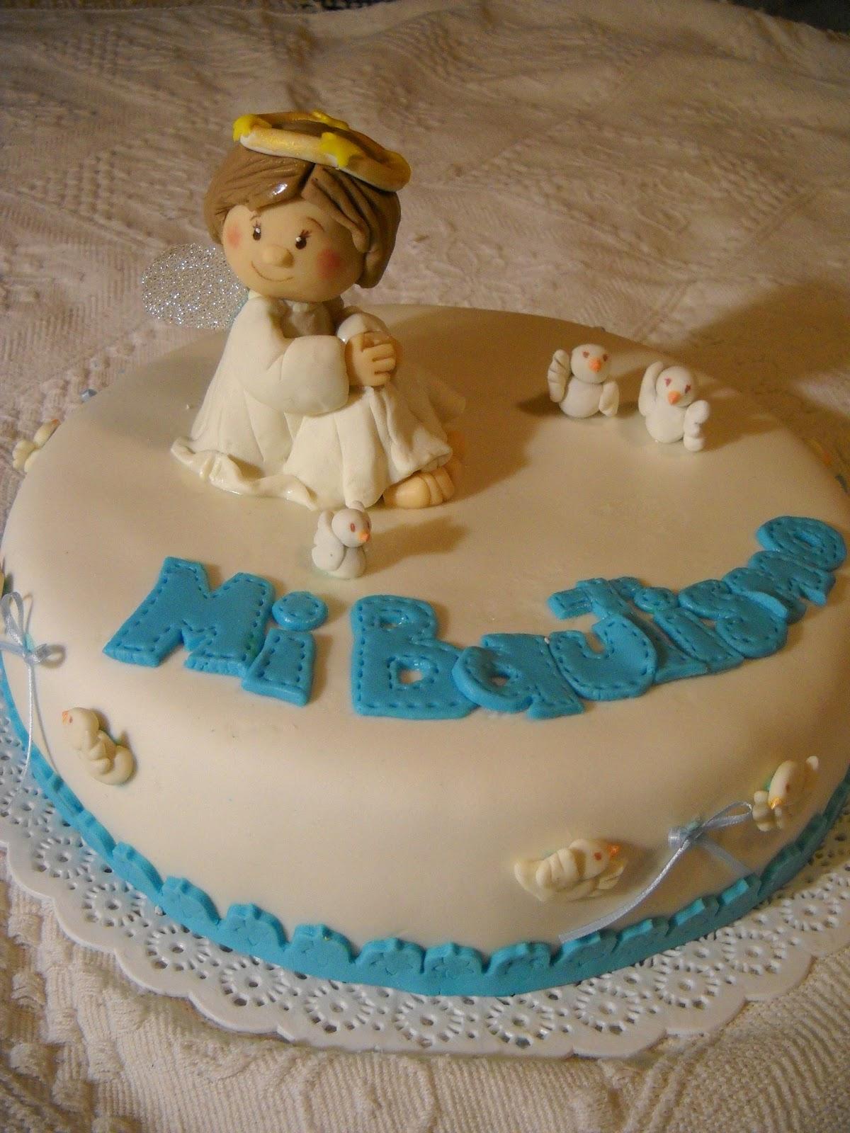 Mis Tortitas Decoradas: Torta de Bautismo con angelito