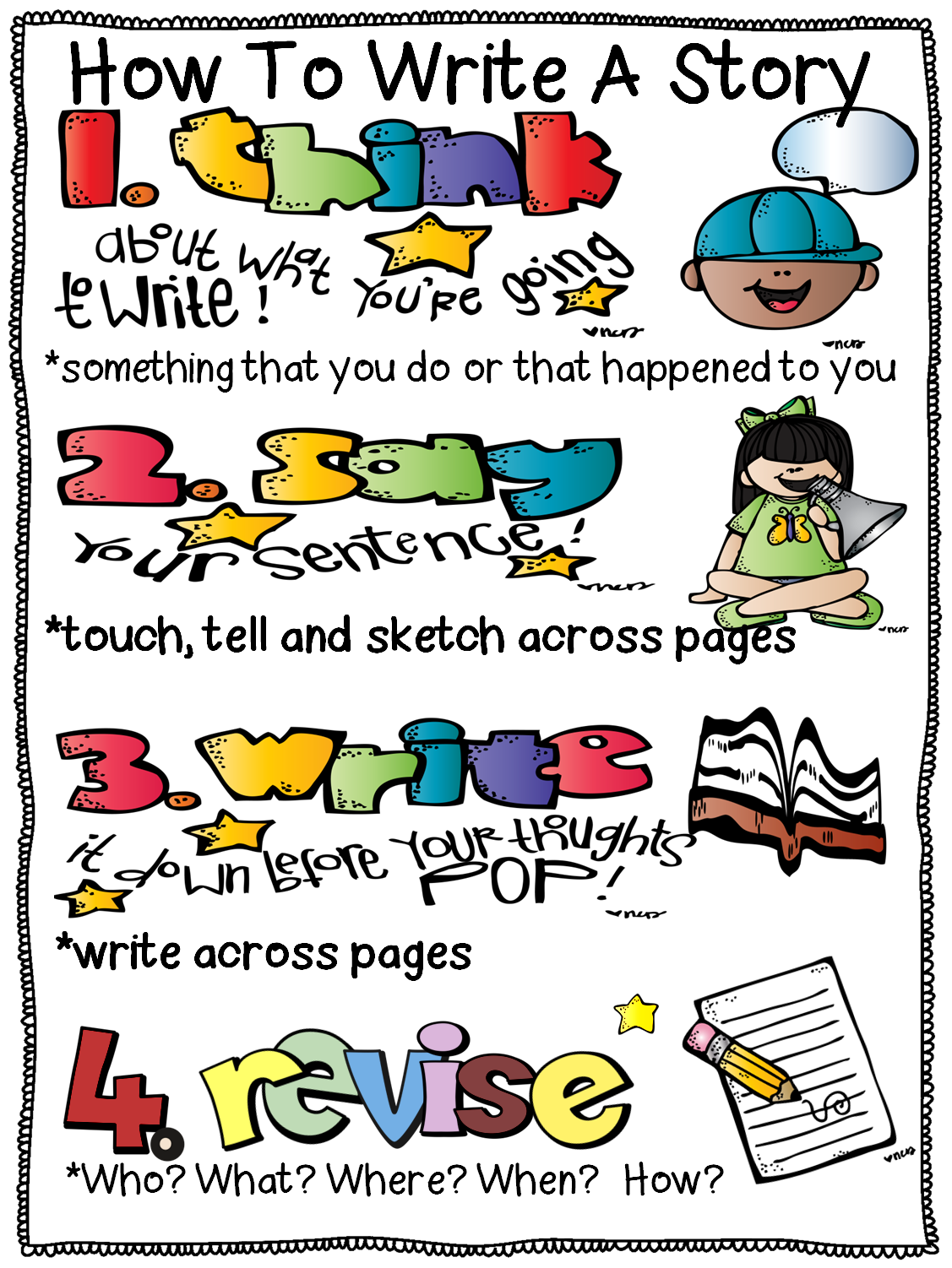 writing posters Your students will love reading and writing the colorful words that are on these posters here are 12 files with various theme-based clip art picture cards that can easily be turned into posters for your writing center all you need to do it print, cut and assemble and these will be a useful tool to have posted in your.