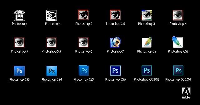 25 anni di evoluzione della icona di Photoshop