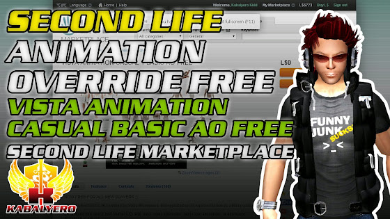 Second Life Animation Override Free - Vista Animation Casual 1 Basic AO Free