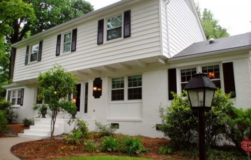 21 rosemary lane classic white painted brick abodes - White exterior masonry paint image ...