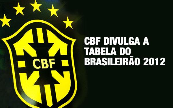 CBF divulga a tabela do Brasileirão 2012