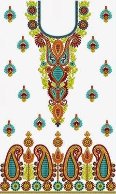 Embroidered Neckline 2014