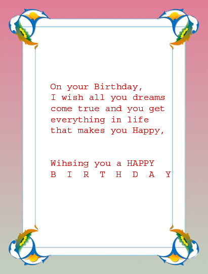 All Wishes Message Greeting Card And Tex Message Birthday Message