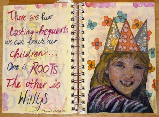 Whoopidooings - Carmen Wing - Art Journal Page