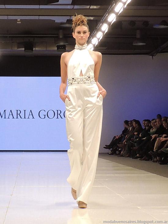 María Garof primavera verano 2015 vestidos y monos. Moda primavera verano 2015.