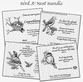 Stamps - Our Daily Bread Designs Bird and Nest Bundle