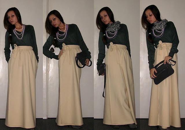 офисный вариант строгой вязаной юбки